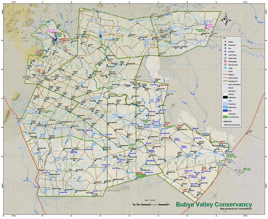 Bubye Conservancy Map